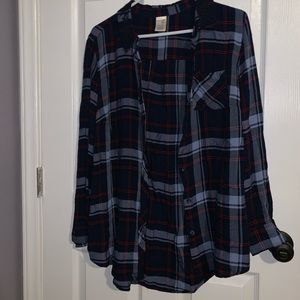 Plaid Shirt with Glitter accents on collar!